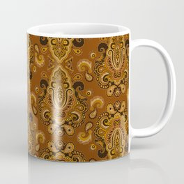 Golden Glow Paisely Coffee Mug