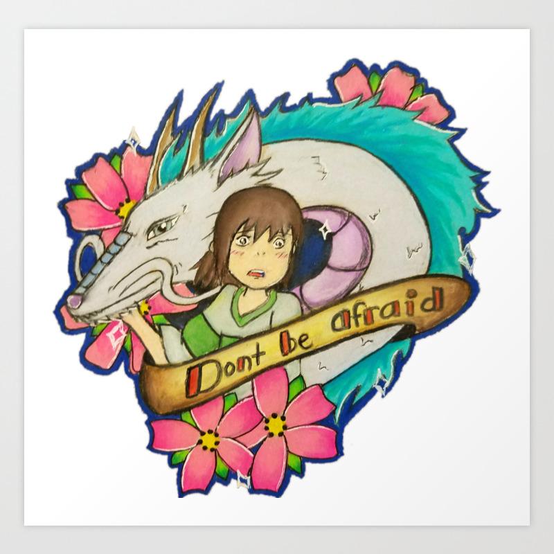 Spirited Away Haku Chihiro Art Print By Sesxo Society6