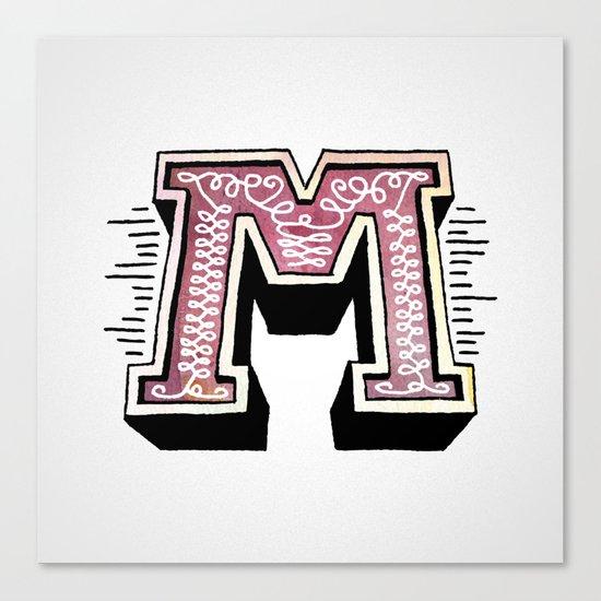 The Letter M Canvas Print