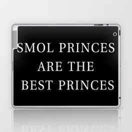 Smol Bookish YA Princes Black Laptop & iPad Skin