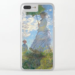 Monet - Madame Monet and Her Son - 1875 Clear iPhone Case