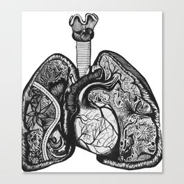 Runner's Lungs Canvas Print