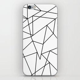 Simple Modern Black and White Geometric Pattern iPhone Skin