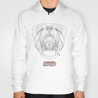 rottweiler Hoodies featuring Rottweiler (Animal Instinct Series) by AP Illustration