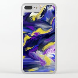 Violaceous Clear iPhone Case