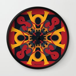 Home Sweet  Home Mandala - Red Black Wall Clock