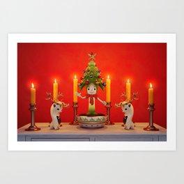 The Little Christmas Tree Art Print