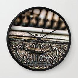 National Cash Wall Clock