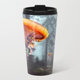 ElectricJellyfish Worlds in a Forest Metal Travel Mug