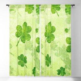 Green Shamrocks Blackout Curtain