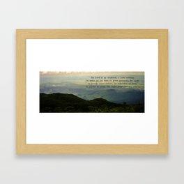 Psalm 23 Framed Art Print