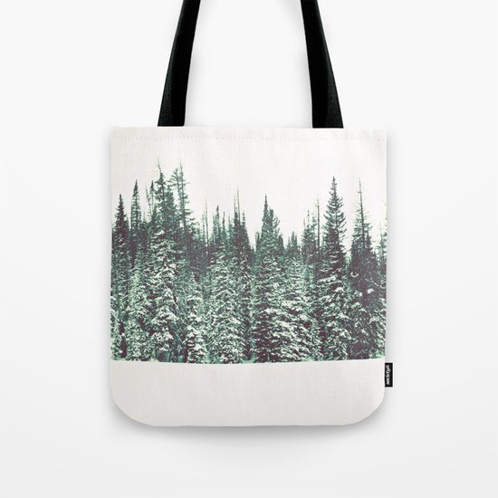 Snow on the Pines Tote Bag