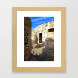 Habu Temple, Luxor (Egypt) Framed Art Print