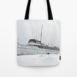 SS Keewatin in Winter White Tote Bag