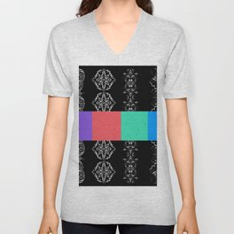 Banners with abstract ornament  Unisex V-Neck