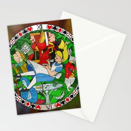 Alice Through the Stained Glass Stationery Cards