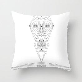 Many geometrie Faces Throw Pillow