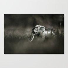 Plastic elephant toy Canvas Print