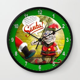 Here's Santa! Wall Clock