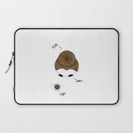 Bun, Coffee, Lashes Laptop Sleeve
