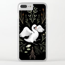 White Swan Clear iPhone Case