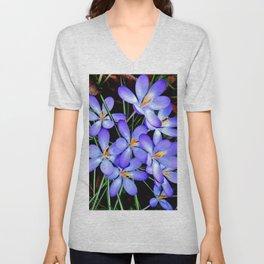 Blue Wildflower Unisex V-Neck