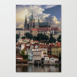 Sunny day in Prague Canvas Print