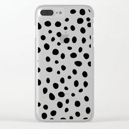 Dots Black and White Clear iPhone Case