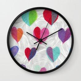 Hearts on Swirls Wall Clock