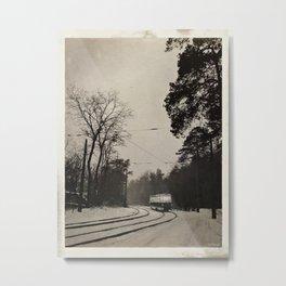 forest tram Metal Print