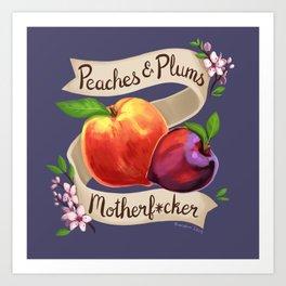 Peaches & Plums Art Print