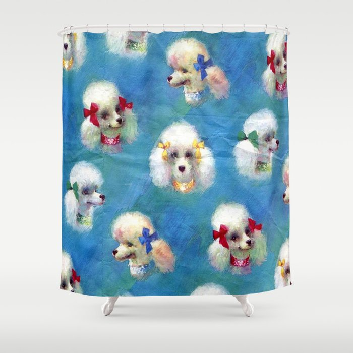 Poodle Mania Shower Curtain