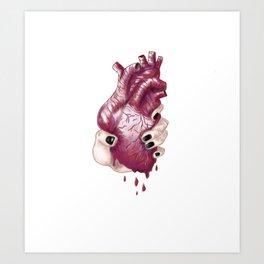 Heart Juice Art Print