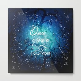 Once Upon A Time ~ Winter Snow Fairytale Forest Metal Print