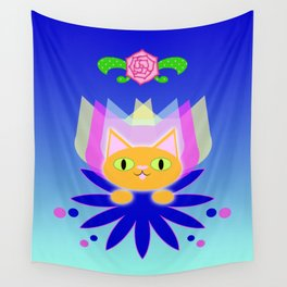 Orange Icon Wall Tapestry