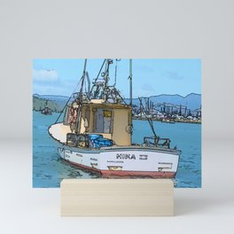 Boat at Whitianga, NZ Mini Art Print