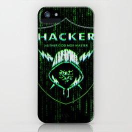 Matrix hacker, Anonymous Hacktivist iPhone Case