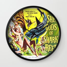 Vintage poster - She Gods of Shark Reef Wall Clock