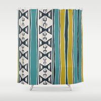 cleveland Shower Curtains featuring Cleveland 5 by Little Brave Heart Shop