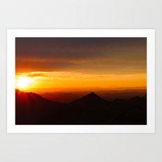 Radiant Valleys  Art Print