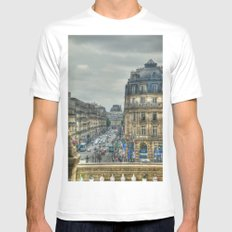 Paris MEDIUM Mens Fitted Tee White