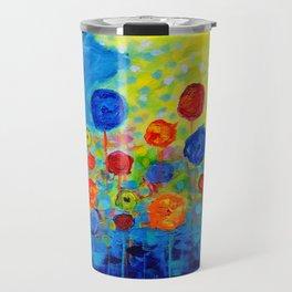 Abstract flowers Travel Mug