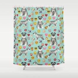 schnauzer emoji dog breed pattern Shower Curtain