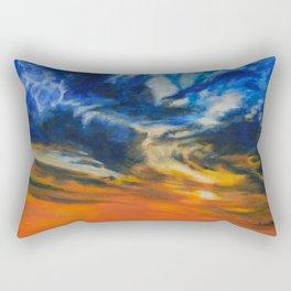 Blazing Sunset by Teresa Thompson Rectangular Pillow