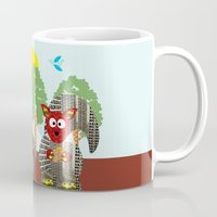 kangaroo Mugs featuring Kangaroo by Design4u Studio