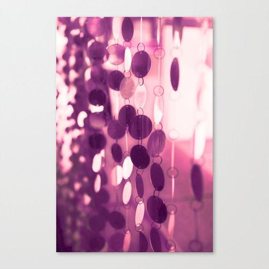 GLAM CIRCLES #Pink/Purple #1 Canvas Print