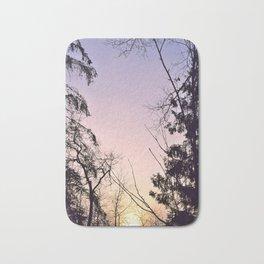 Sky colors and trees Bath Mat