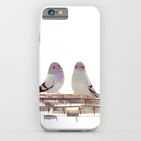 Pigeons in love iPhone & iPod Case