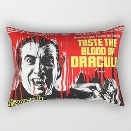 Taste the Blood of Dracula, vintage horror movie poster Rectangular Pillow