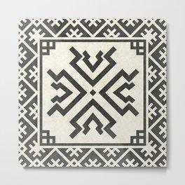 Tribal geometric pattern (Amulet) Metal Print